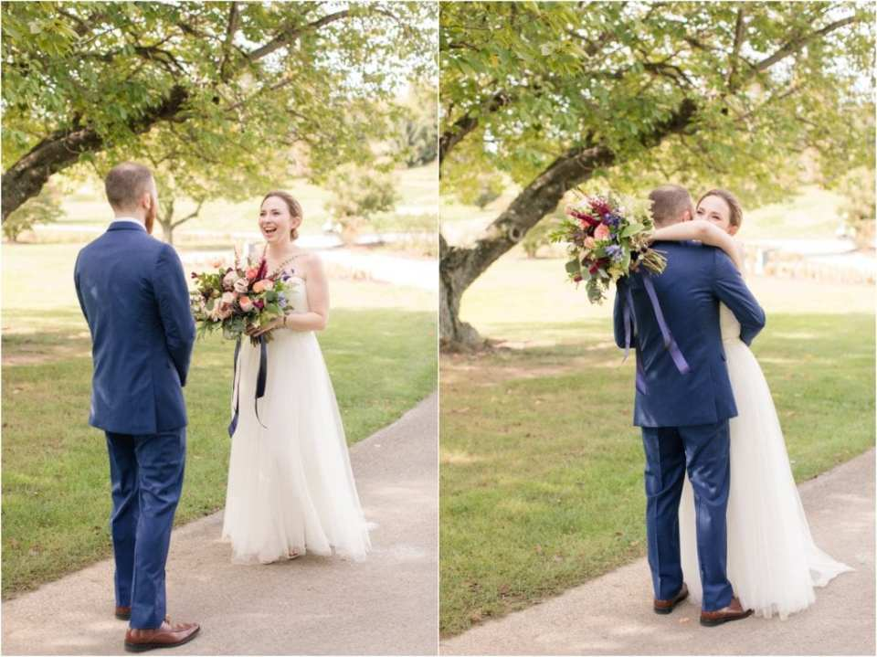 first looks with brides and grooms