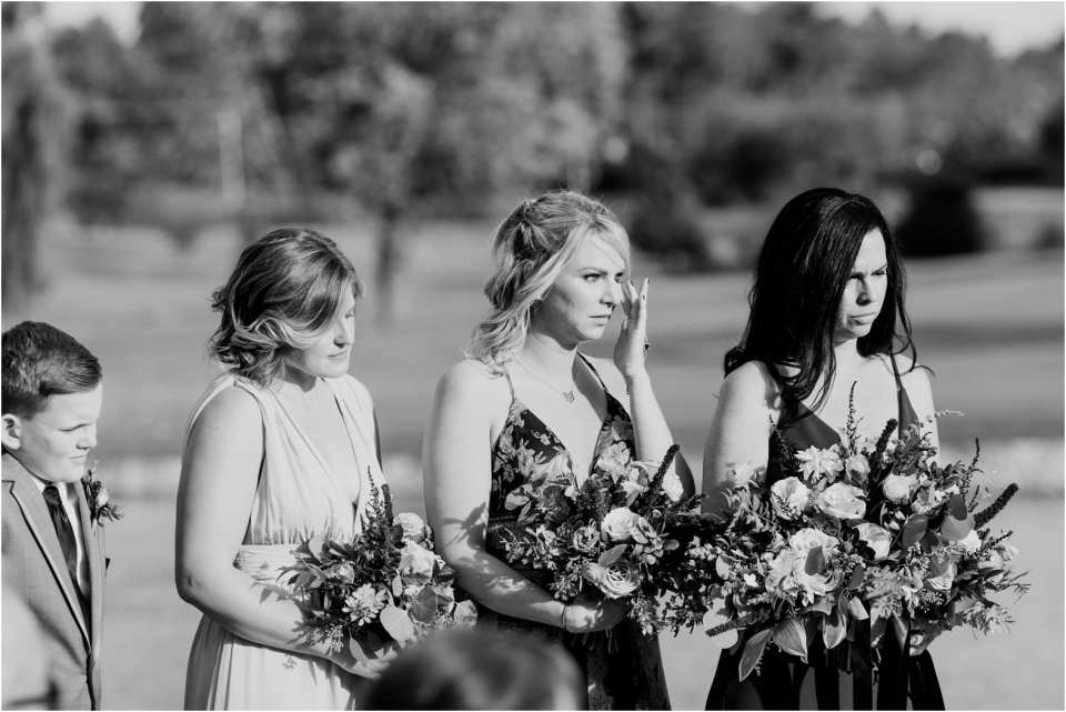 candid wedding photos, bridesmaids crying