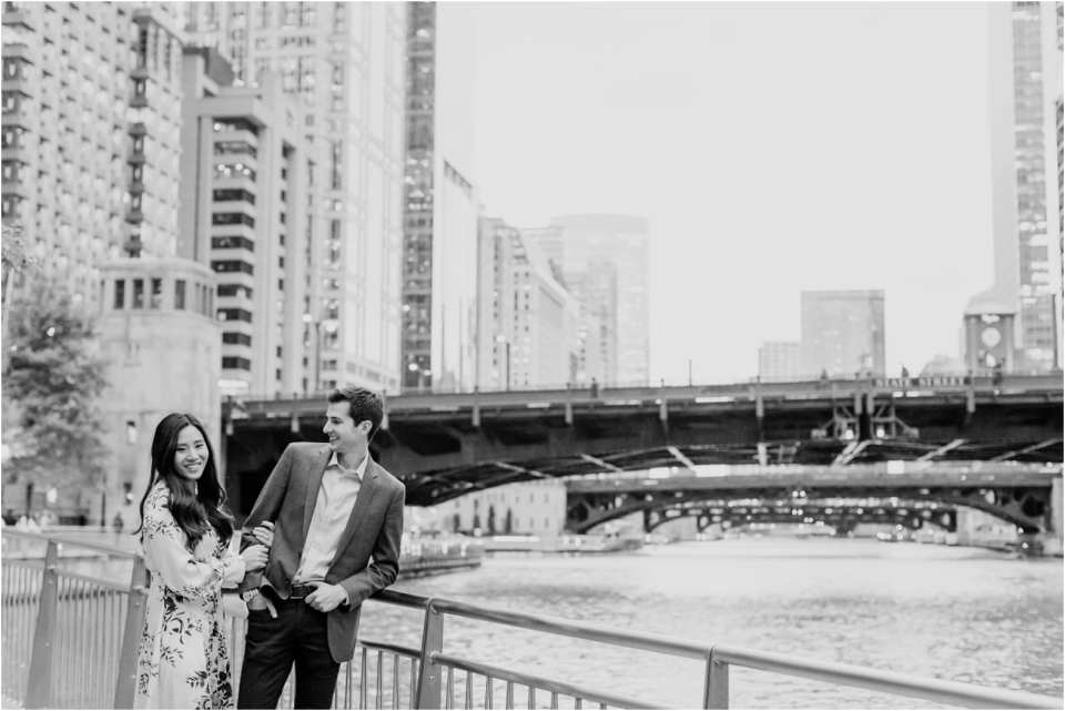 chicago waterfront engagement