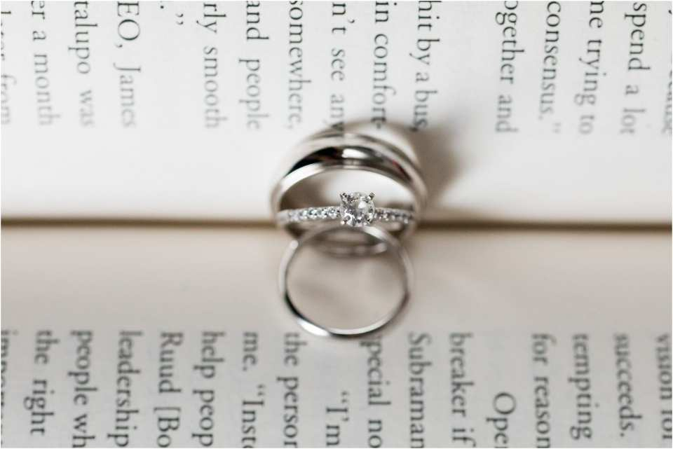 library themed wedding photos