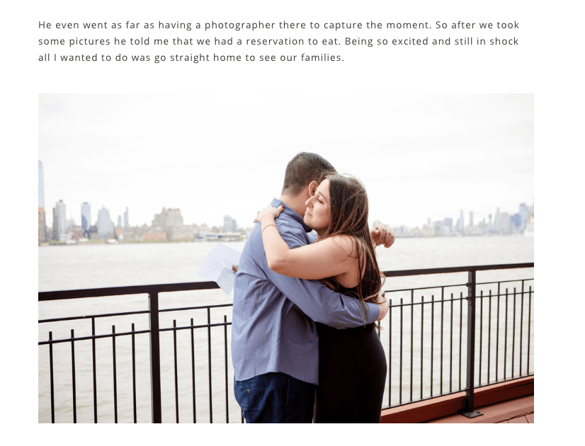 North Jersey engagement proposal photos