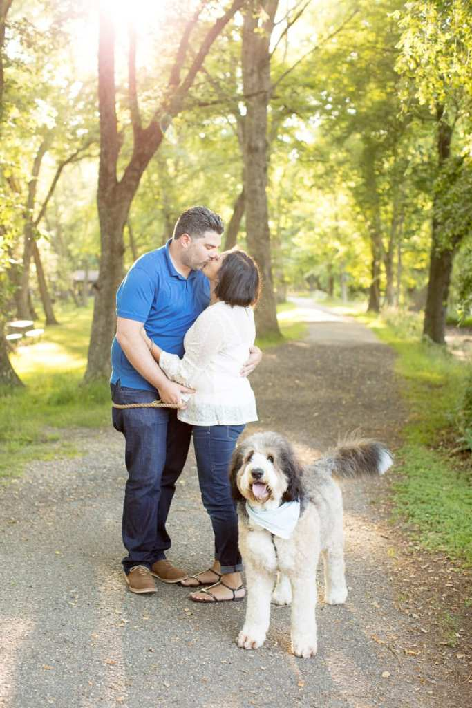 allaire state park engagement photos, engagement photos with your dog