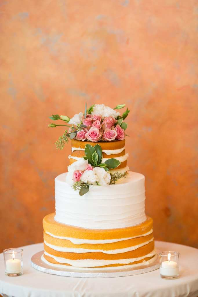 naked cake, naked wedding cakes, the mill at springlake