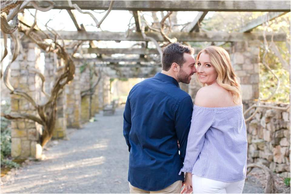 garden engagement photos