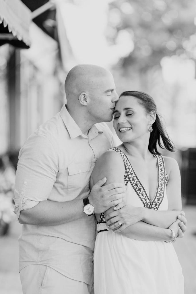 Spring Lake engagement photos, New Jersey engagement photos, black and white engagement photos