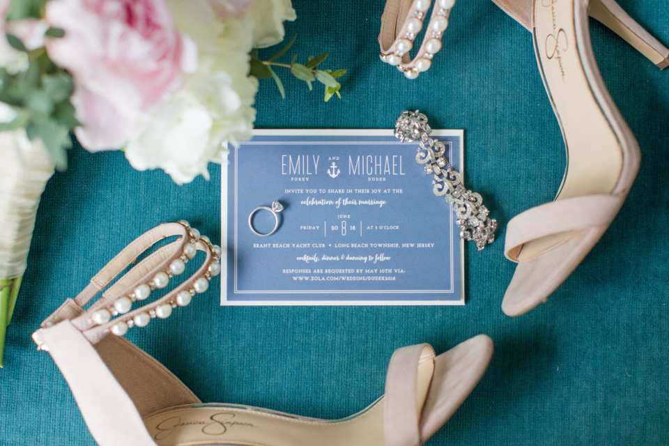 minted wedding invitation, nautical wedding invitation, NJ wedding photographer, Brant Beach Yacht Club wedding