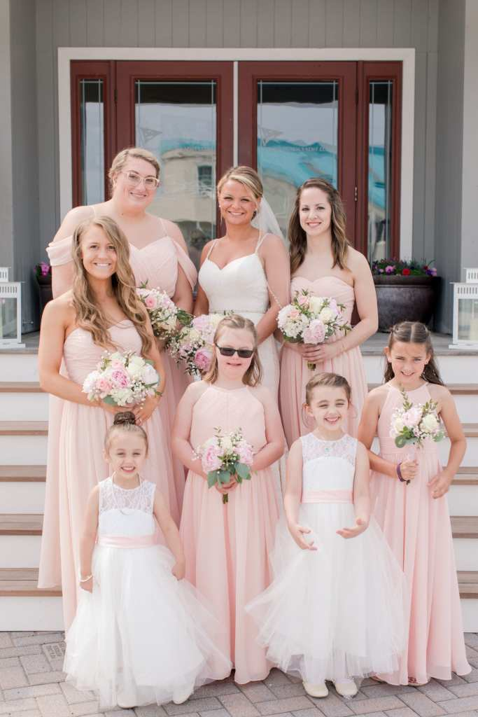 blush bridesmaids, new jersey wedding photographer, JJ's House bridesmaids