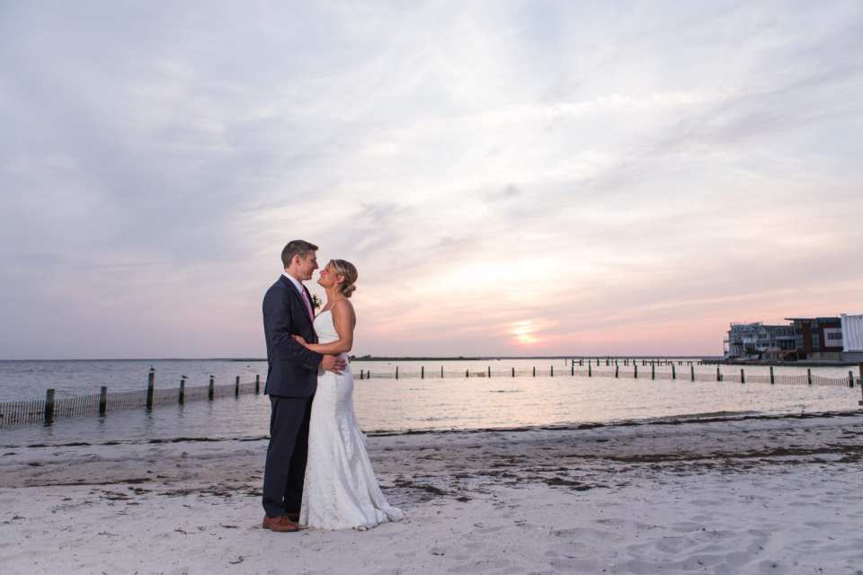 long beach island weddings, sunset couple photo, Brant Beach Yacht Club weddings, NJ wedding photographer