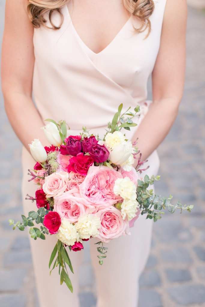 red pink and white bouquet idea, magnolia west events