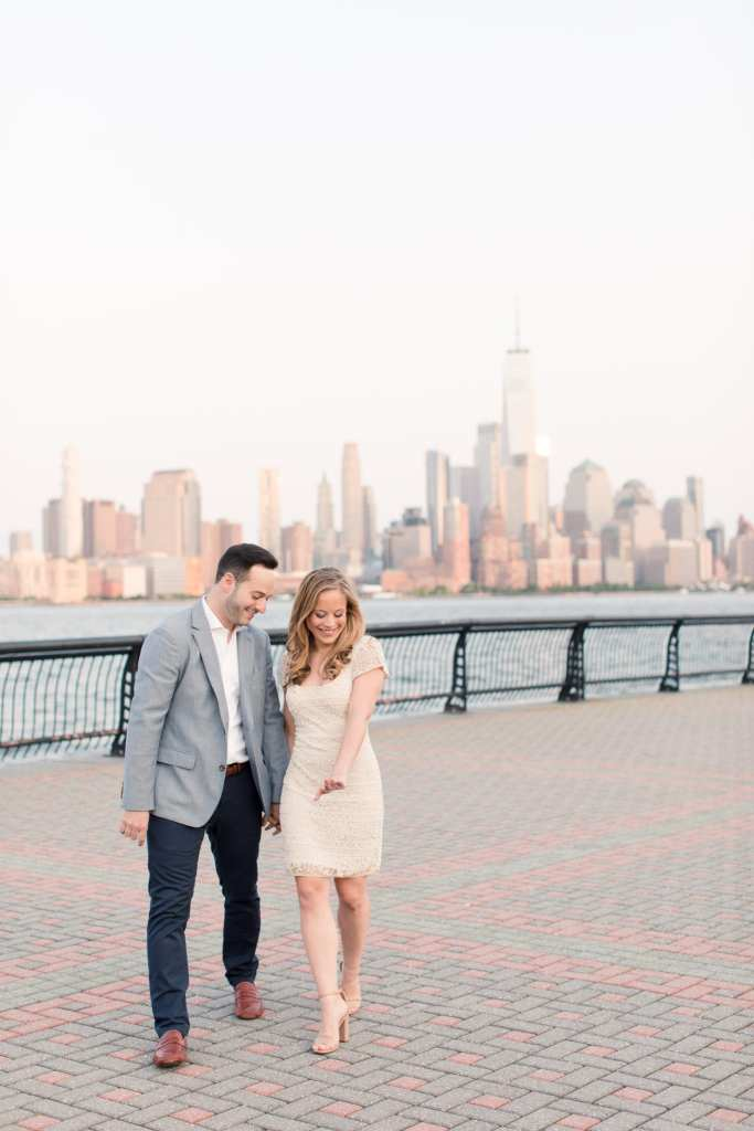 skyline photo, nyc skyline engagement photo, nj wedding photographer, new jersey wedding photographer