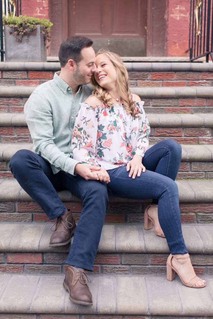 casual engagement photos, hoboken engagement photos, new jersey wedding photographer