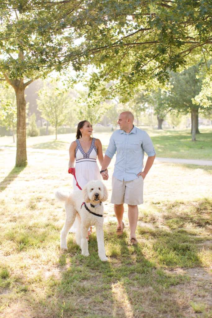 Devine Park engagement photsos, engagement photos dog engagement photos, pet engagement photos