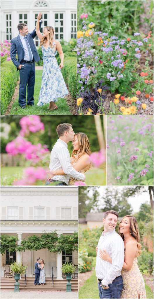 princeton garden engagement, morven museum weddings, park savoy wedding