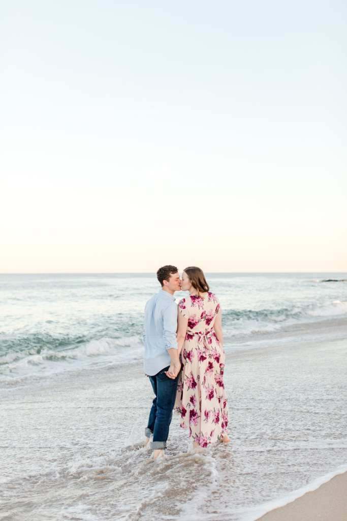 Jersey Shore engagement photos, beach engagement photos, New Jersey wedding photographer, ocean engagement photos