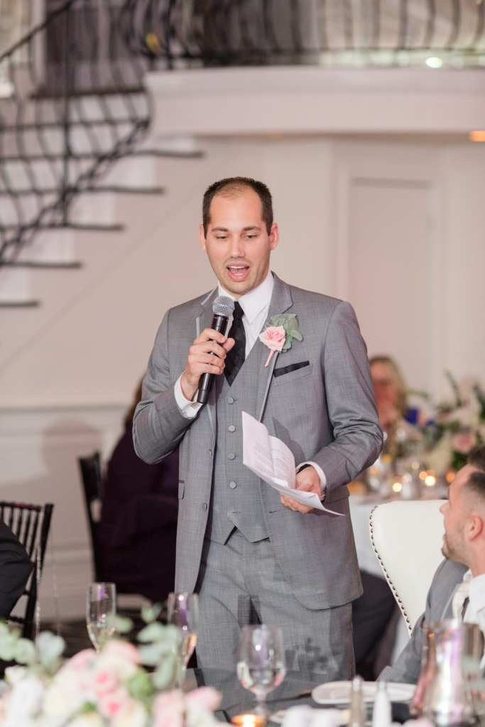 best man speech by New Jersey wedding photographer
