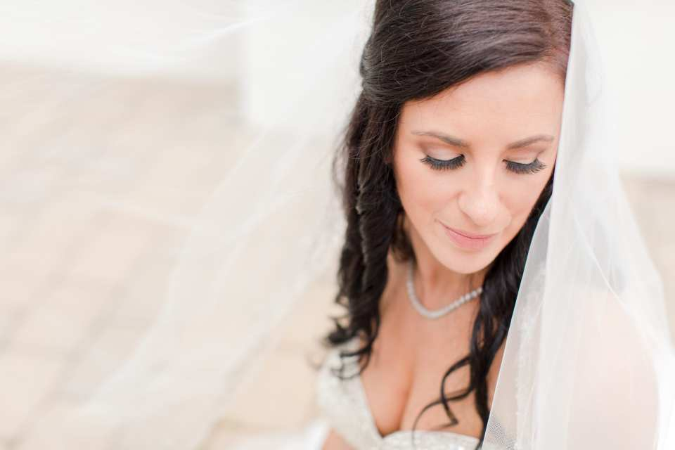 stunning bridal portrait by New Jersey wedding photographer, DDG Beauty boutique