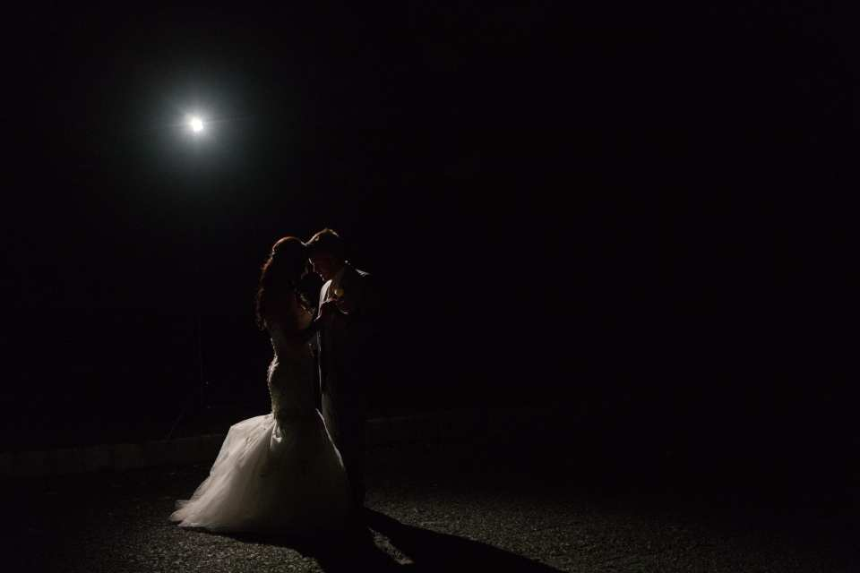 bride and groom at night, elegant nighttime couple portrait, glam bride and groom, NJ wedding photographer
