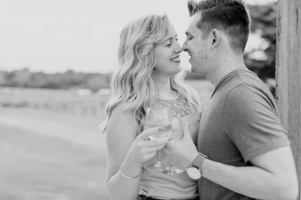 Laurita Winery, Winery Engagement Photos, Vineyard Engagement photos, black and white vineyard photos, New Jersey wedding photographer