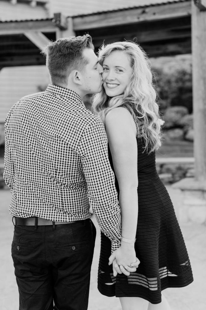 fun black and white engagement photo, NJ wedding photographer