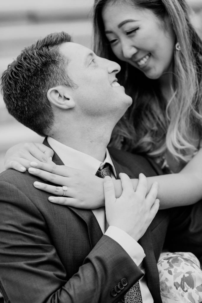 candid black and white wedding photos