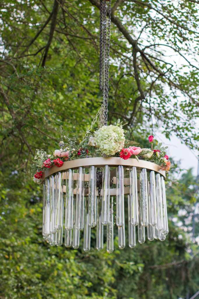 Updike Farmstead wedding, , rustic Princeton wedding, custom chandelier, JM Glass Co, wedding chandelier