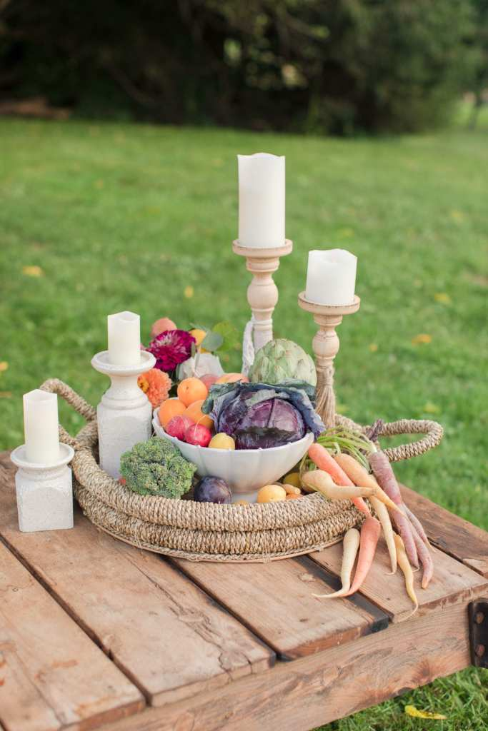 Updike Farmstead wedding, rustic princeton wedding, rustic wedding centerpiece, alternative wedding centerpiece, incorporating fruit into wedding decor