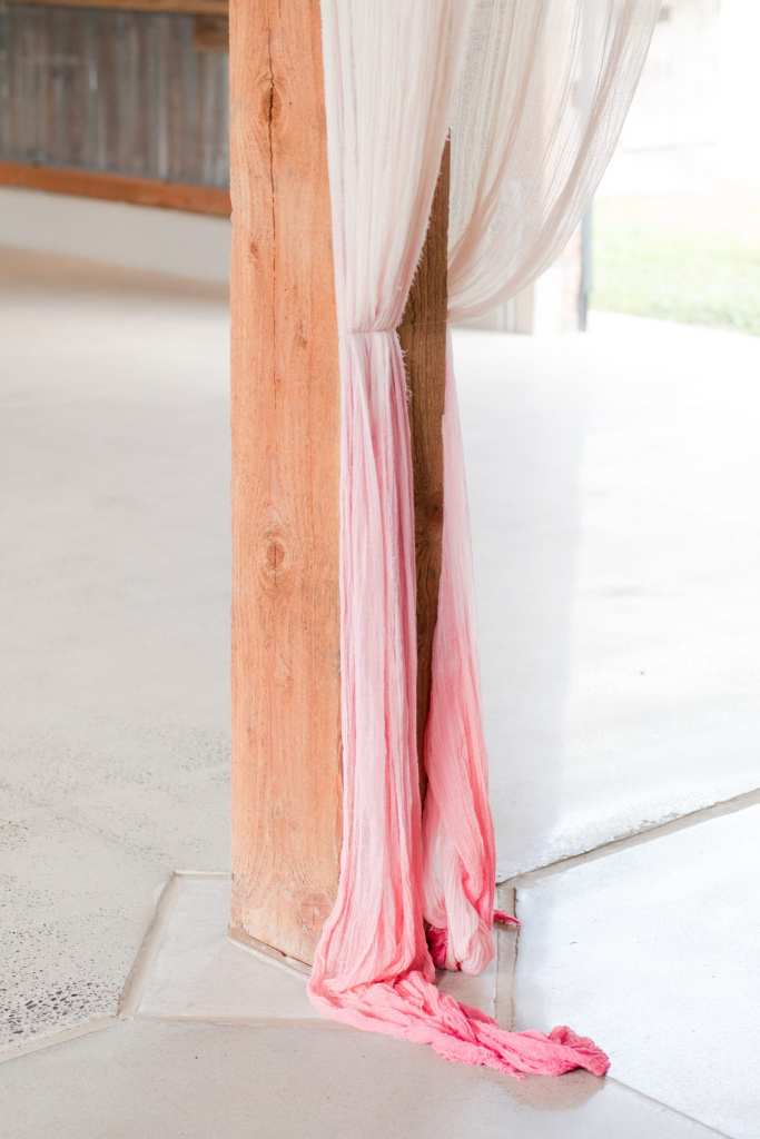 Rustic glam wedding reception details
