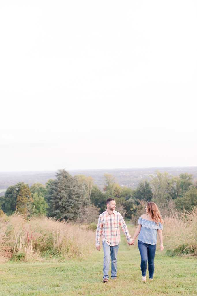 baldpate mountain reserve, nature engagement photos, casual New Jersey engagement
