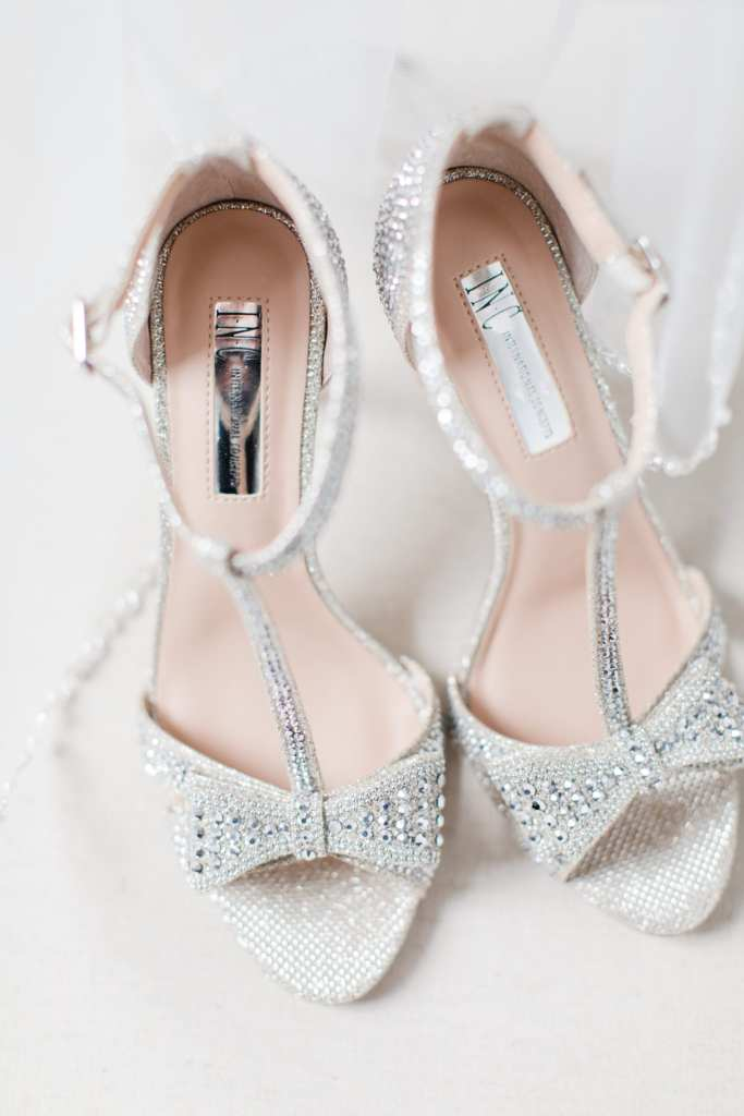 INC rhinestone heels, glam heels, glam bridal shoes