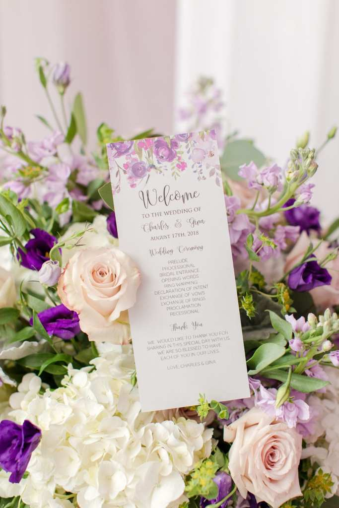 purple and lavender wedding, Anne's Bargain Bridals