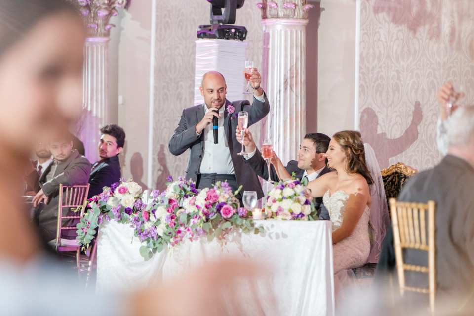 Best Man speech, champagne toast, Central New Jersey wedding,