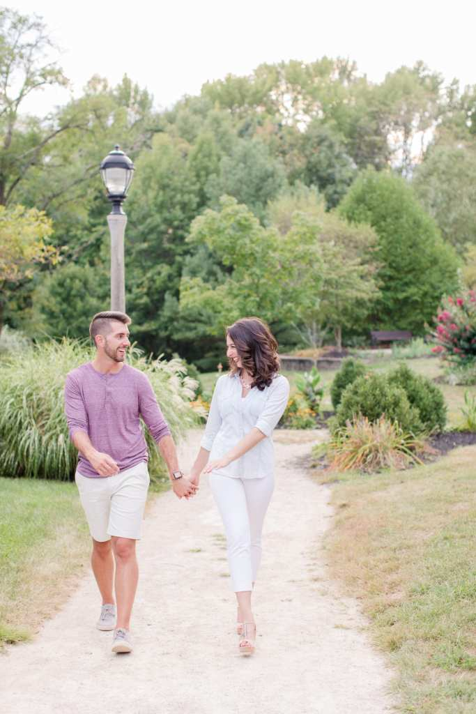 casual couples outdoor session, central new jersey outdoor engagement session