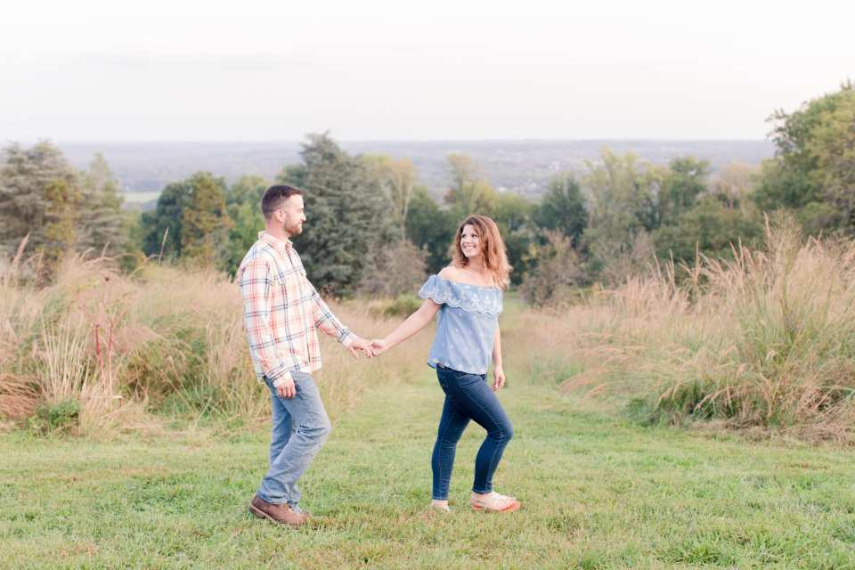 casual engagement photos, outdoor engagement photos, Baldpate Mountain engagement photos, NJ wedding photographer