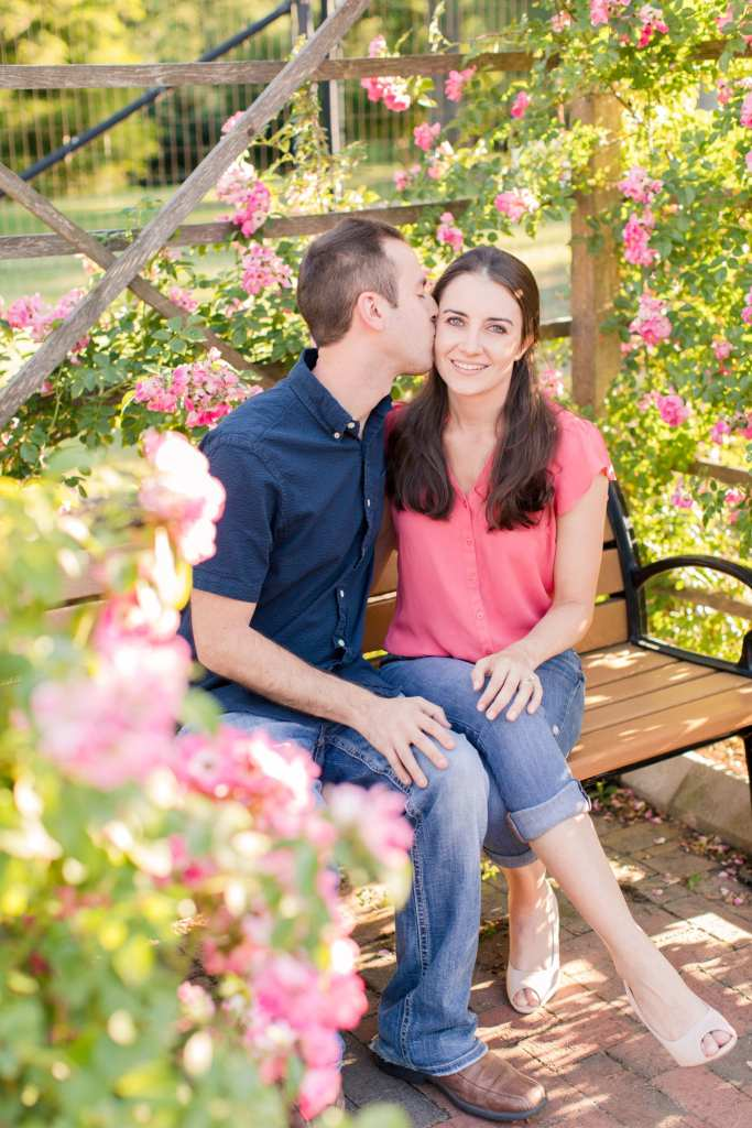 Colonial Park Rose Garden engagement session, Central New Jersey engagement session, New Jersey wedding photographer