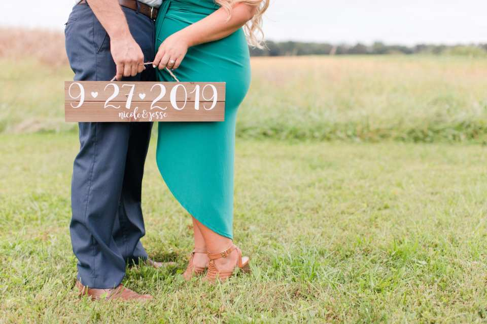 custom wedding sign, save the date sign, Updike Farmstead, Charlotte Russe