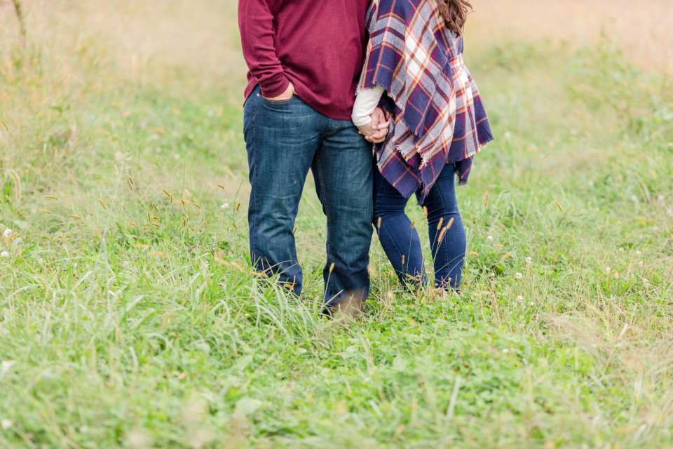 casual rustic engagement photos