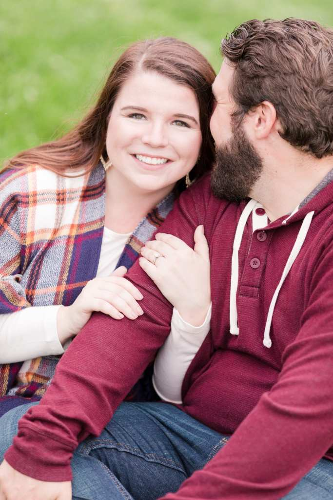 casual engagement photo, rustic couple photo