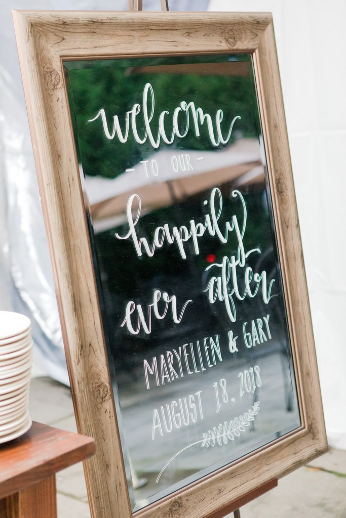 unique welcome signs, mirrored welcome signs