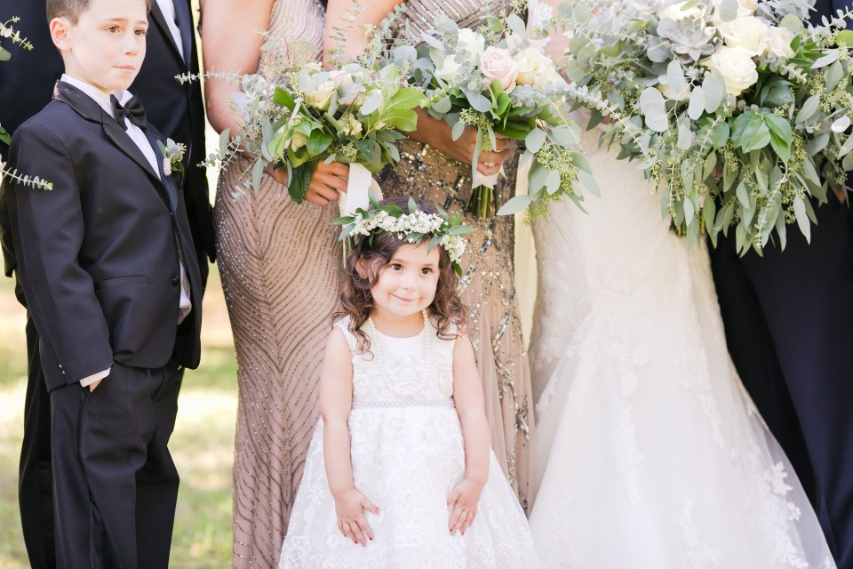 divine park, spring lake, new jersey weddings, flower girl highlight photo, wedding party photo, new jersey wedding photographer