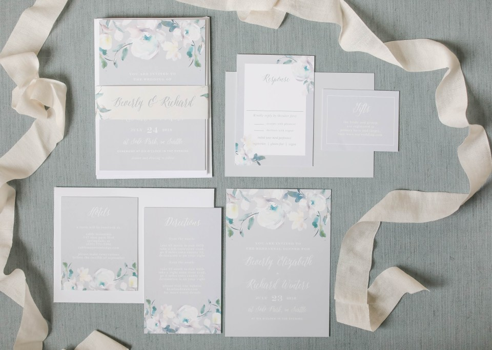 wedding invitation suite, complete wedding invitation suite, Basic Invite, wedding invitations, NJ wedding photographer