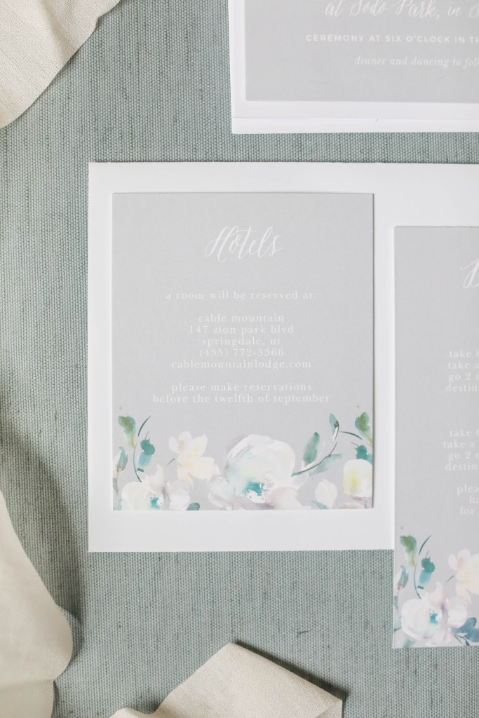 grey and white wedding invitation suite, grey and white wedding invitation pieces, Basic Invite