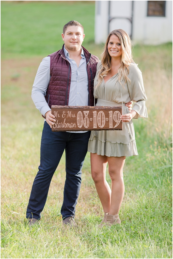 engagement photos with props, save the date engagement photos