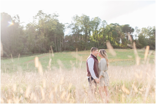 outdoor field engagement photos, Holmdel engagement photos, NJ wedding photographer