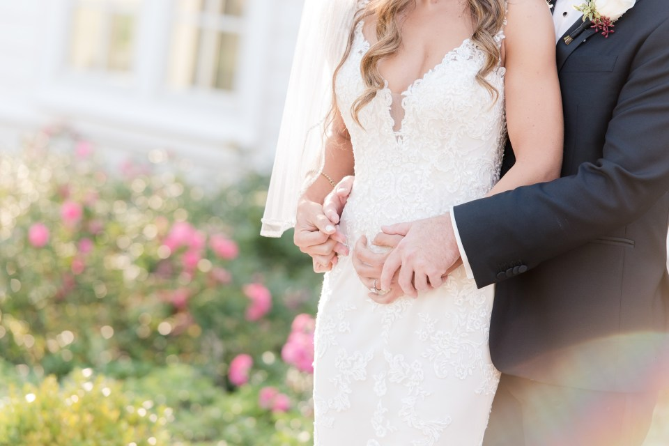 bride and groom photo, Maggie Sottero gown, outdoor bride and groom, NJ wedding photographer