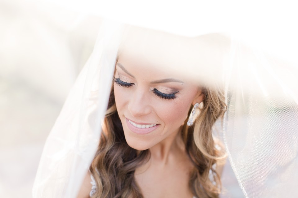 bridal portrait, veil shot, bride eyelashes for days, Beauty and Beyond by Jenny makeup, New Jersey wedding photographer