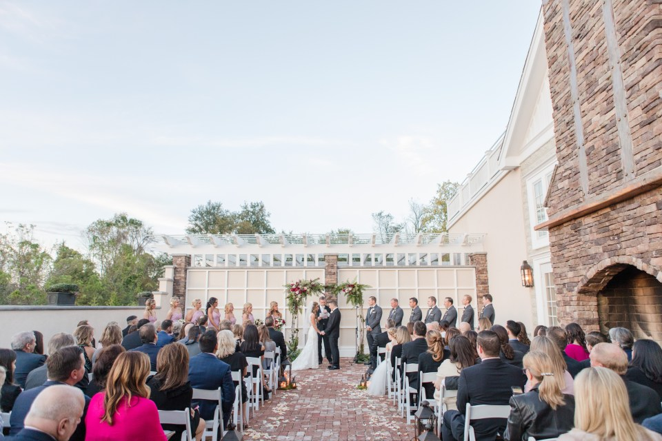 Ryland Inn outdoor wedding ceremony, North Jersey wedding ceremony, outdoor wedding venue, NJ wedding photographer
