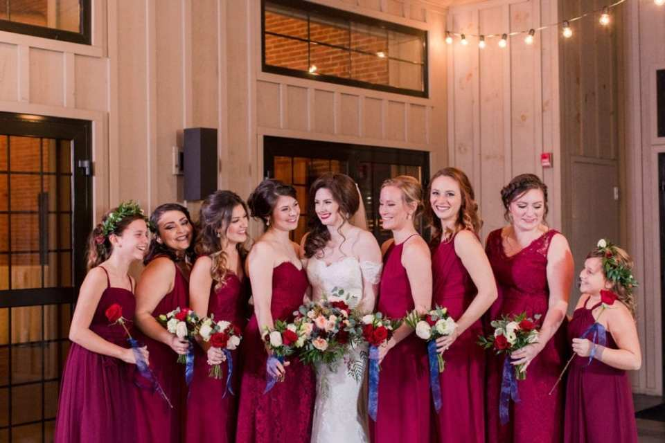 formal photo of bride and bridal party