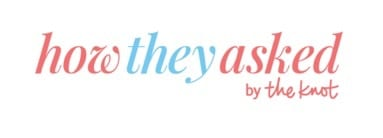 How They Asked by the knot website banner