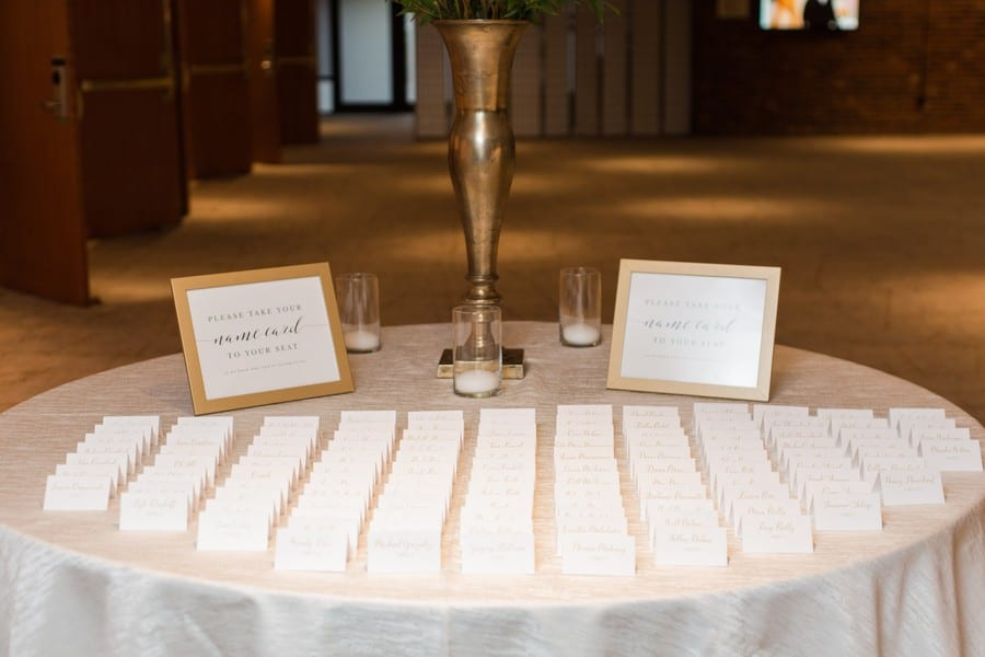 Wedding details: name card display