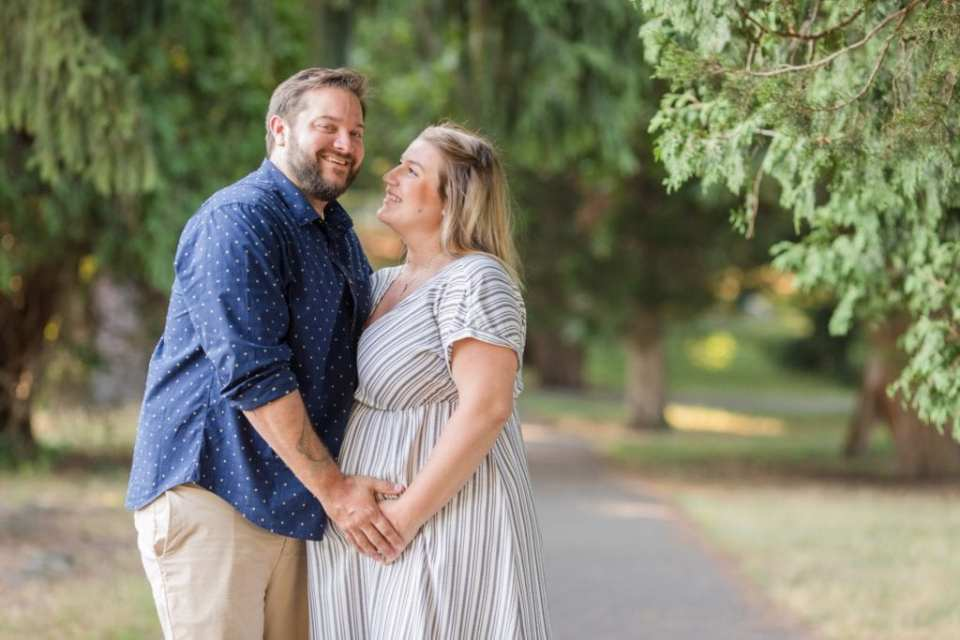 Front-line healthcare worker photos of couple